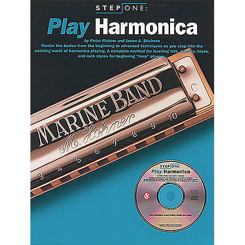 Music Sales Step One: Play Harmonica Music Sales America Series Softcover with CD Written by Jason A. Shulman