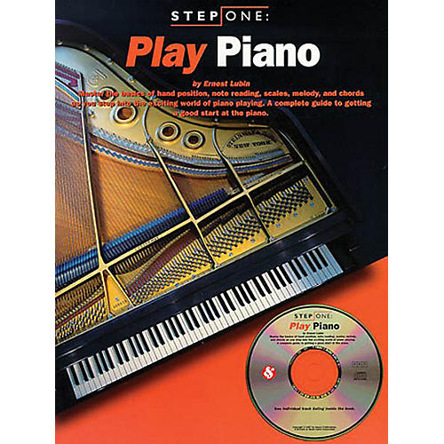 Music Sales Step One: Play Piano Music Sales America Series Softcover with CD Written by Ernest Lubin-thumbnail