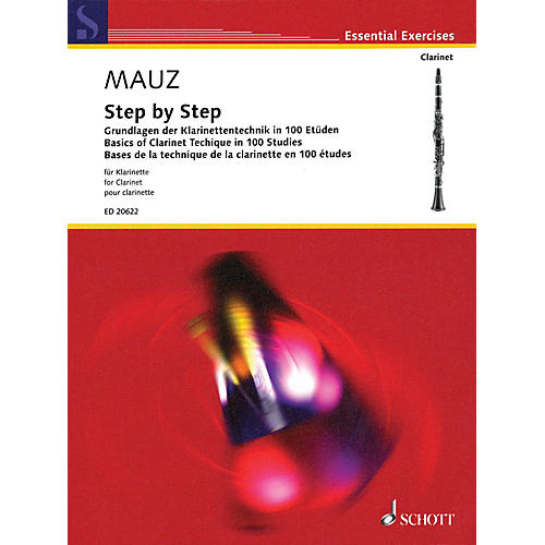 Schott Step by Step (Basics of Clarinet Technique in 100 Studies) Woodwind Method Series Softcover-thumbnail