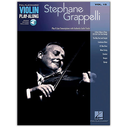 Hal Leonard Stephane Grappelli Violin Play-Along Volume 15 Bk/CD