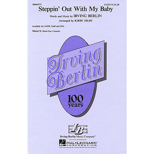 Hal Leonard Steppin' Out with My Baby SATB arranged by Kirby Shaw-thumbnail
