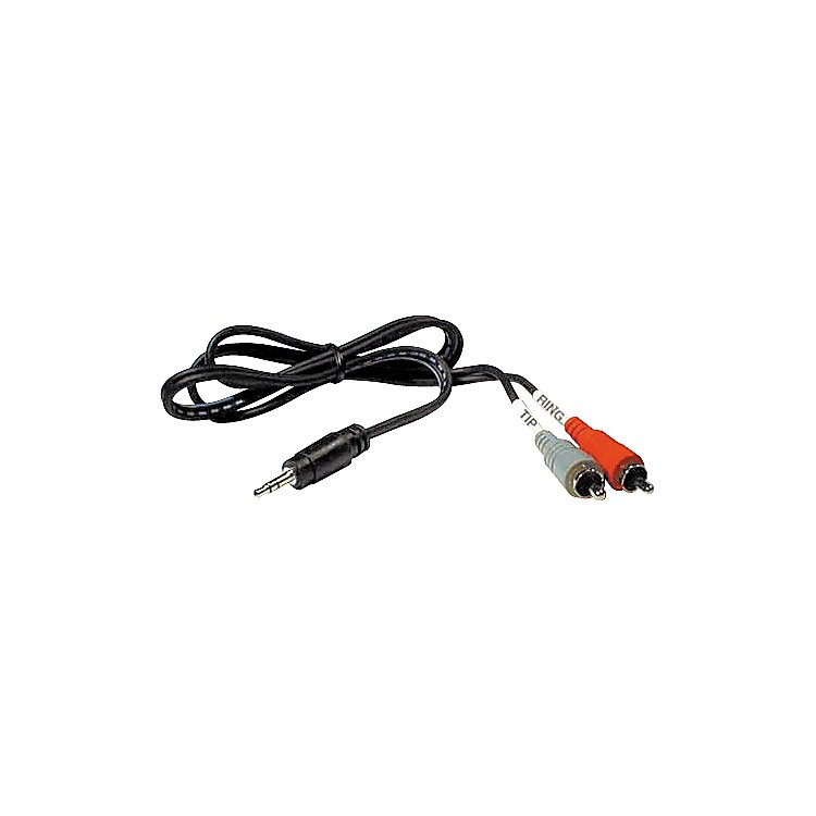 HosaStereo Y-cable Mini Male-Two RCA Males3 Foot