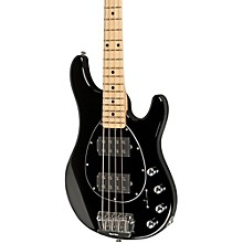 Ernie Ball Music Man Sterling HH 4-String Bass Level 1 Black Maple Fretboard
