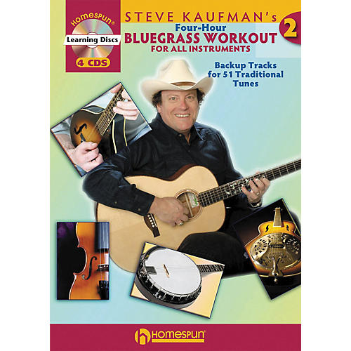 Homespun Steve Kaufman's Four-Hour Bluegrass Workout, Volume Two (Book with 4-CD Set)
