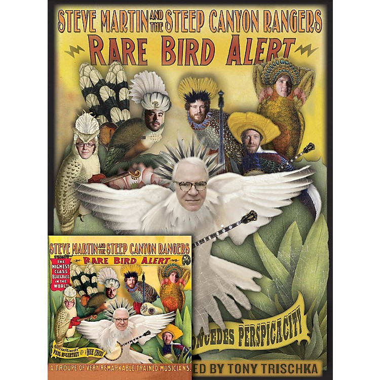 Homespun Steve Martin Rare Bird Alert Book/CD Bundle