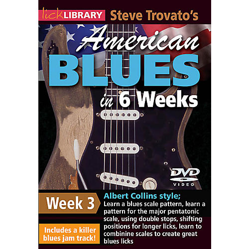 Licklibrary Steve Trovato's American Blues in 6 Weeks (Week 3) Lick Library Series DVD Performed by Steve Trovato