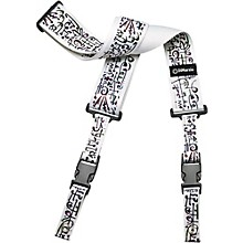 DiMarzio Steve Vai ClipLock Strap White Art 2 in.