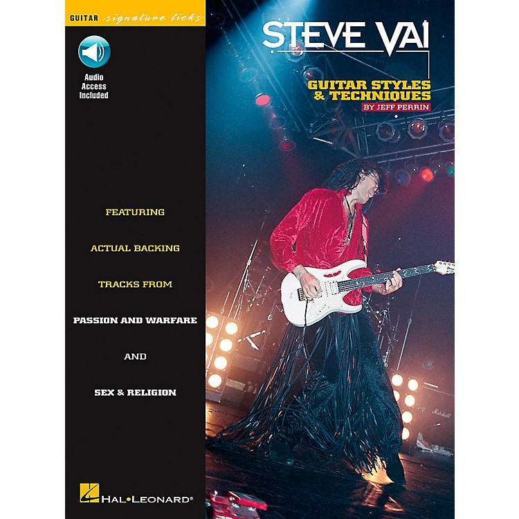Hal Leonard Steve Vai Signature Licks Style & Techniques Book with CD