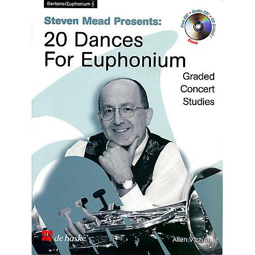 De Haske Music Steven Mead Presents 20 Dances for Euphonium (Treble Clef) De Haske Play-Along Book Series by Steven Mead-thumbnail