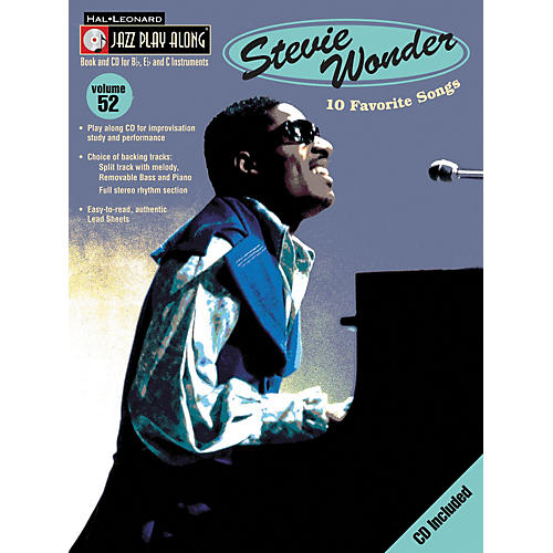 Hal Leonard Stevie Wonder - Jazz Play Along, Volume 52 (Book/CD)-thumbnail