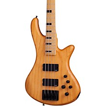 Schecter Guitar Research Stiletto-4 Session Electric Bass Guitar Level 1 Satin Aged Natural