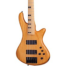 Schecter Guitar Research Stiletto-5 Session 5 String Electric Bass Guitar Satin Aged Natural
