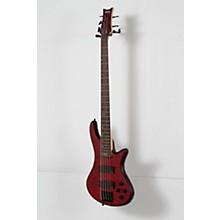 Schecter Guitar Research Stiletto Custom-5 Bass Level 2 Satin Vampire Red 190839106681