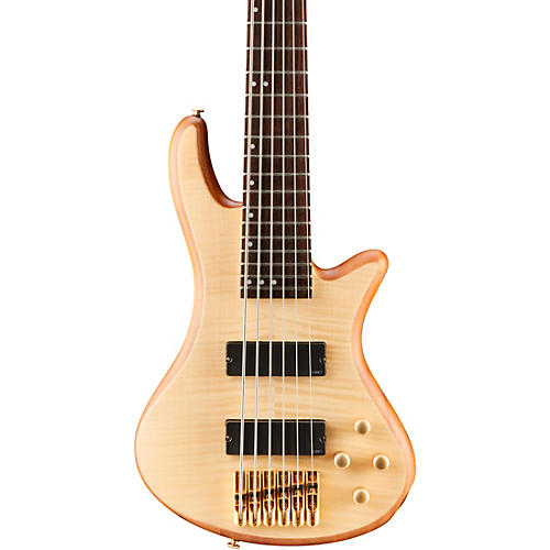 Schecter Guitar Research Stiletto Custom 6 6-String Bass Guitar Natural Satin