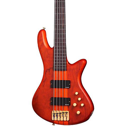 Schecter Guitar Research Stiletto Studio-5 Fretless Bass Honey Satin
