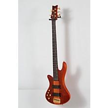 Schecter Guitar Research Stiletto Studio-5 Left-Handed Bass Level 2 Satin Honey 190839106278