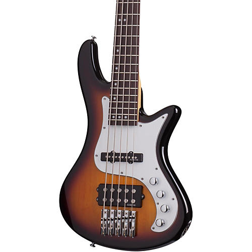 Schecter Guitar Research Stiletto Vintage-5 Five-String Electric Bass Guitar-thumbnail
