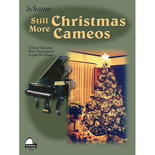 SCHAUM Still More Christmas Cameos (Level 6 Early Advanced Level) Educational Piano Book-thumbnail