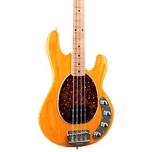 Ernie Ball Music Man StingRay 4-String Electric Bass Guitar Transparent Gold Maple Fretboard