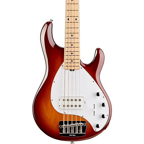 Ernie Ball Music Man StingRay 5 5-String Bass Guitar Honey Sunburst Maple Fretboard