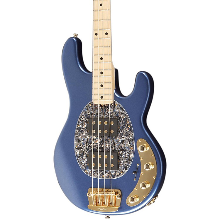 Music Man StingRay HH 4-String Bass Pace Car Blue (P)