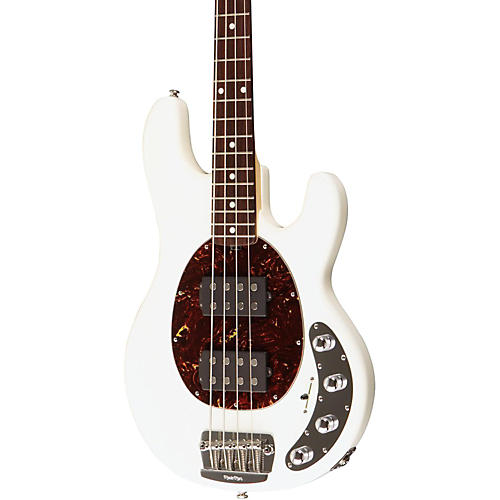 Music Man StingRay Slo Special 4 String HH Electric Bass White Rosewood Fretboard