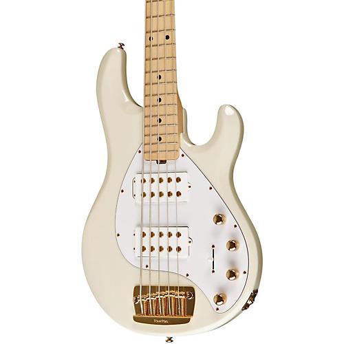 Music Man Stingray 5 5-String Electric Bass Regular India Ivory Rosewood w/Matching Headstock India Ivory Maple Fretboard