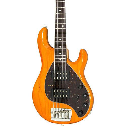 Music Man Stingray 5 5-String Electric Bass Regular India Ivory Rosewood w/Matching Headstock Transparent Gold Rosewood Fretboard