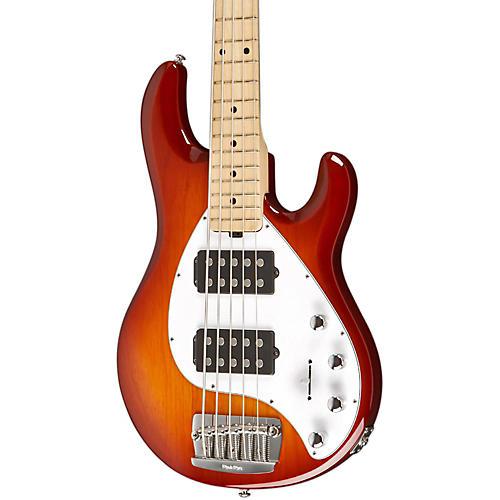 Ernie Ball Music Man Stingray 5 HH 5-String Electric Bass Honey Burst Maple Fretboard