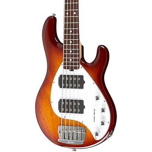 Ernie Ball Music Man Stingray 5 HH 5-String Electric Bass Honey Burst Rosewood Fretboard