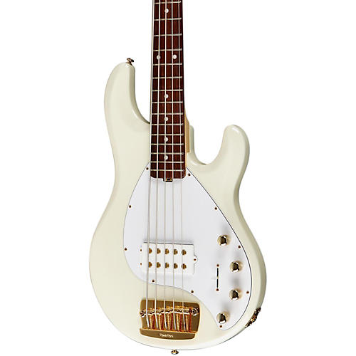 Ernie Ball Music Man Stingray 5 HH 5-String Electric Bass India Ivory Rosewood w/Matching Headstock