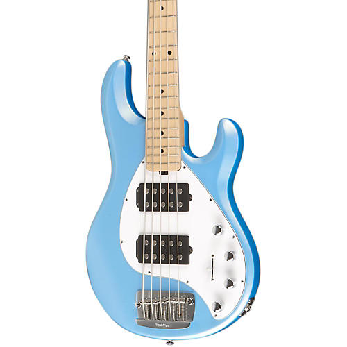 Music Man Stingray 5 HH 5-String Electric Bass Sky Blue Maple Fretboard