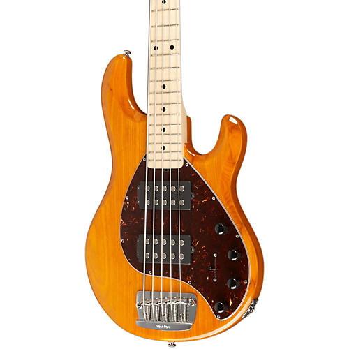 Ernie Ball Music Man Stingray 5 HH 5-String Electric Bass Transparent Gold Maple Fretboard