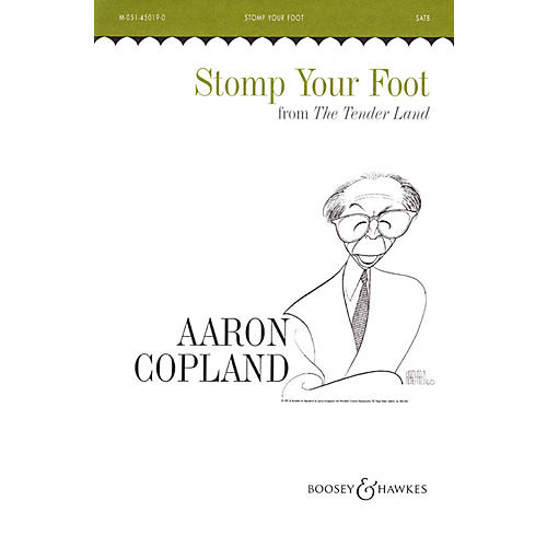 Boosey and Hawkes Stomp Your Foot (from The Tender Land) (SATB and Piano, 4 Hands) SATB composed by Aaron Copland-thumbnail