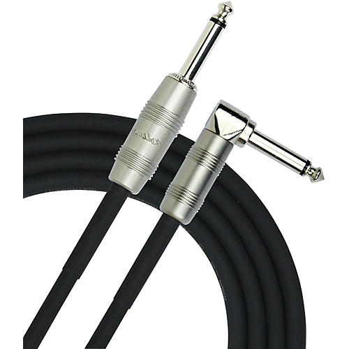 KIRLIN Straight to Right Angle Instrument Cable, Black