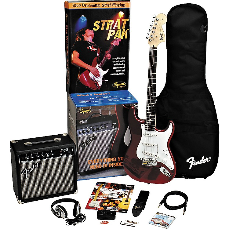 FenderStrat Electric Guitar Pak