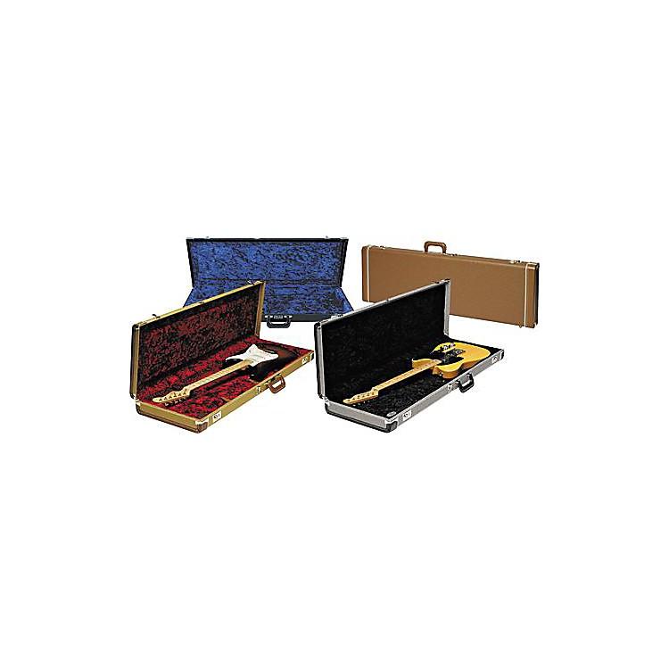 FenderStrat/Tele Hardshell CaseBrownGold Plush Interior