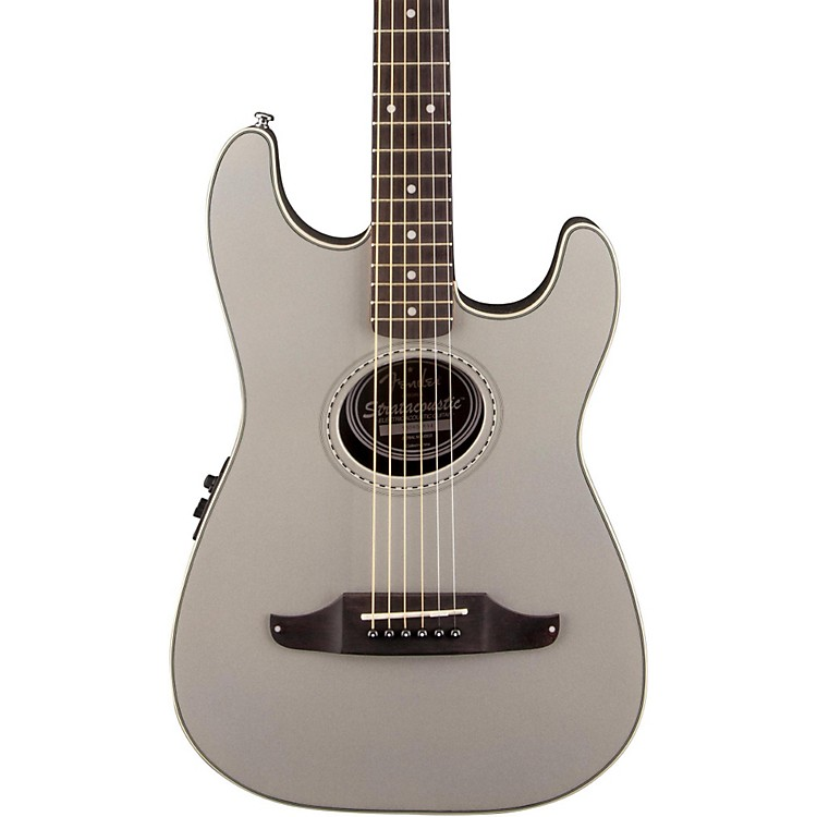 Fender Stratacoustic Plus Acoustic-Electric Guitar Inca Silver