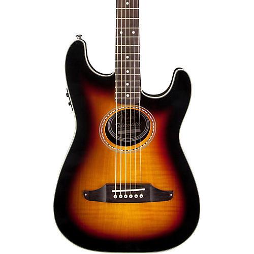 fender stratacoustic premier flame maple acoustic electric guitar musician 39 s friend. Black Bedroom Furniture Sets. Home Design Ideas