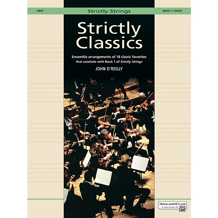 Alfred Strictly Classics Book 1 Violin
