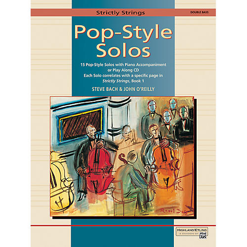 Alfred Strictly Strings Pop-Style Solos Bass Book Only-thumbnail