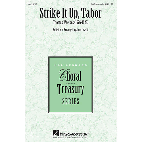 Hal Leonard Strike It Up, Tabor SAB A Cappella composed by Thomas Weelkes-thumbnail