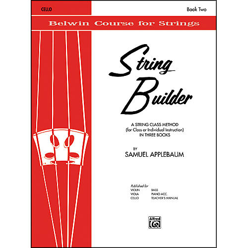 Alfred String Builder Cello Book II