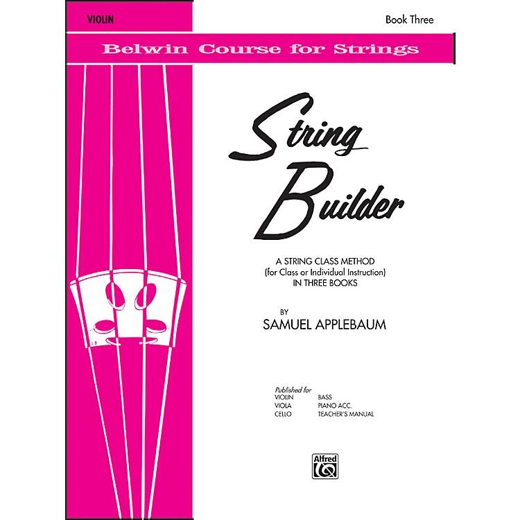AlfredString Builder Violin Book III