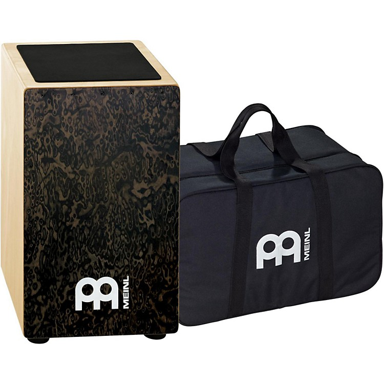 Meinl String Cajon with Bag Black Makah-Burl Frontplate