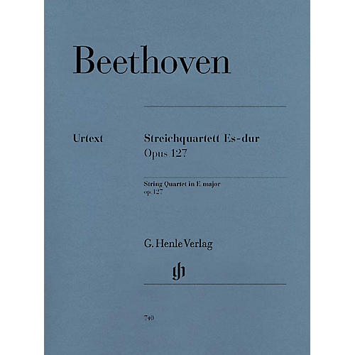 G. Henle Verlag String Quartet E Flat Major Op. 127 Henle Music Folios Series Softcover Composed by Ludwig van Beethoven-thumbnail