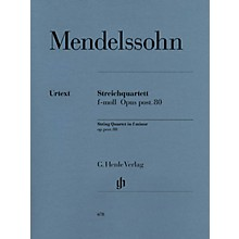 G. Henle Verlag String Quartet F Minor Op. Posth. 80 Henle Music Folios Series Softcover Composed by Felix Mendelssohn