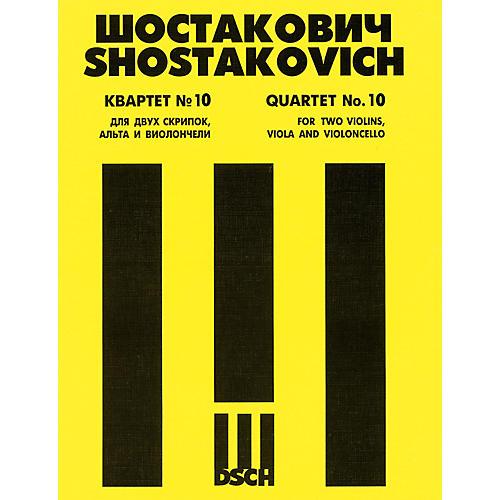 DSCH String Quartet No. 10, Op. 118 (Score) DSCH Series Composed by Dmitri Shostakovich-thumbnail