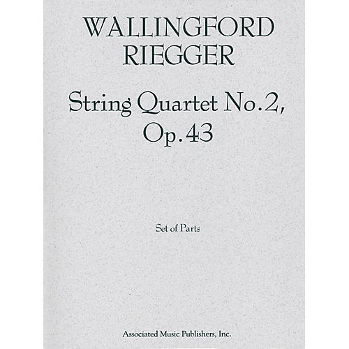 Associated String Quartet No. 2, Op. 43 (Set of Parts) String Series Composed by Wallingford Riegger-thumbnail