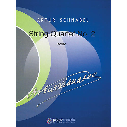 Peer Music String Quartet No. 2 Peermusic Classical Series Composed by Artur Schnabel-thumbnail